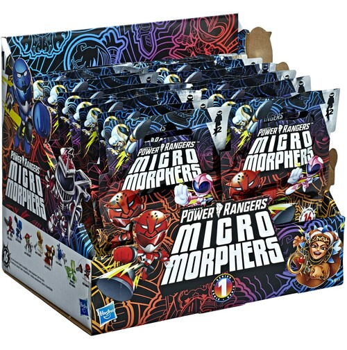 Power Rangers Beast Morphers Micro Morphers Series 1 Figure 2-Pack Mystery Box [24 Packs]