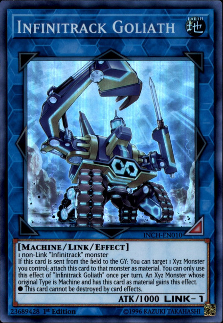 YuGiOh The Infinity Chasers Super Rare Infinitrack Goliath INCH-EN010