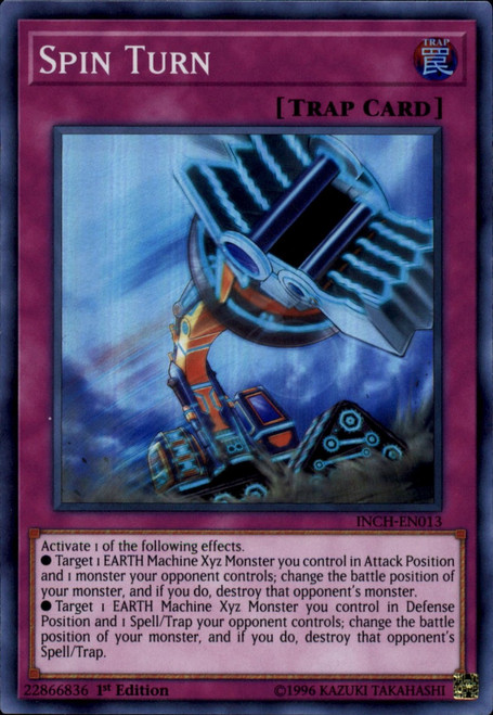 YuGiOh The Infinity Chasers Super Rare Spin Turn INCH-EN013
