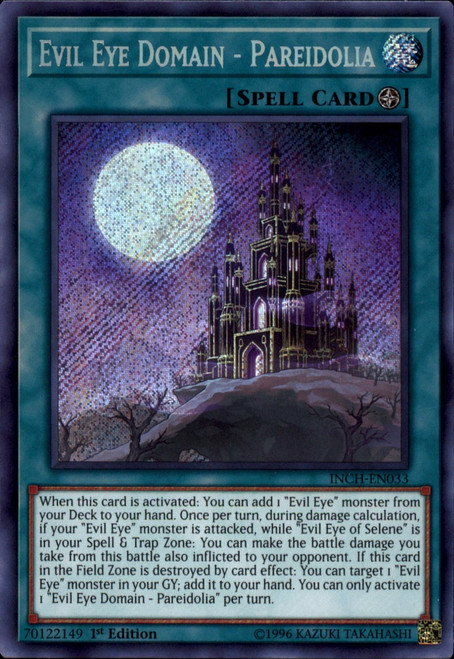 YuGiOh The Infinity Chasers Secret Rare Evil Eye Domain - Pareidolia INCH-EN033