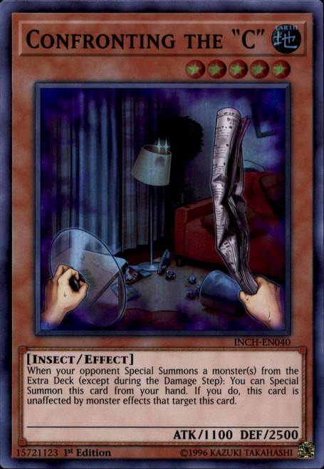 YuGiOh The Infinity Chasers Super Rare Confronting the C INCH-EN040