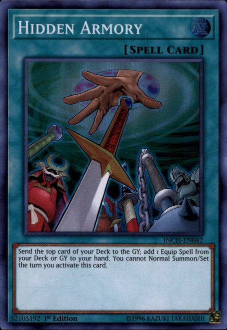 YuGiOh The Infinity Chasers Super Rare Hidden Armory INCH-EN042