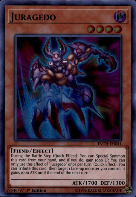 YuGiOh The Infinity Chasers Super Rare Juragedo INCH-EN041