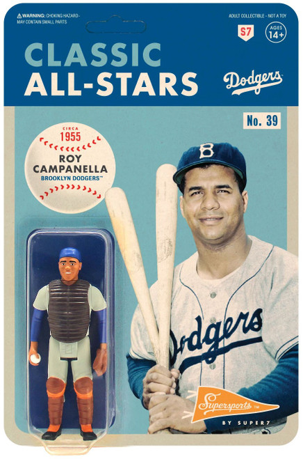 ReAction MLB Classic All-Stars Brooklyn Dodgers Roy Campanella Action Figure
