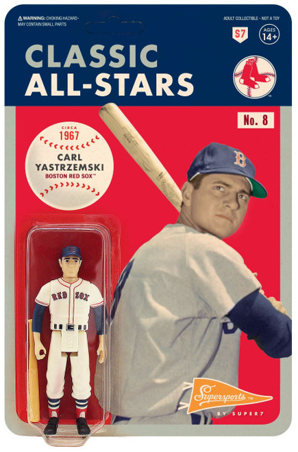 ReAction MLB Classic All-Stars Boston Red Sox Carl Yastrzemski Action Figure