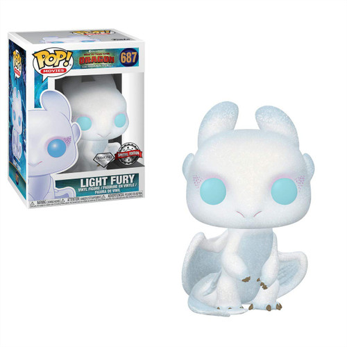 Funko How to Train Your Dragon The Hidden World POP! Movies Light Fury Exclusive Vinyl Figure [Glitter, Damaged Package]