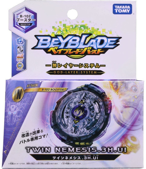 Beyblade Burst Japanese Twin Nemesis.3H.Ui Booster B-102