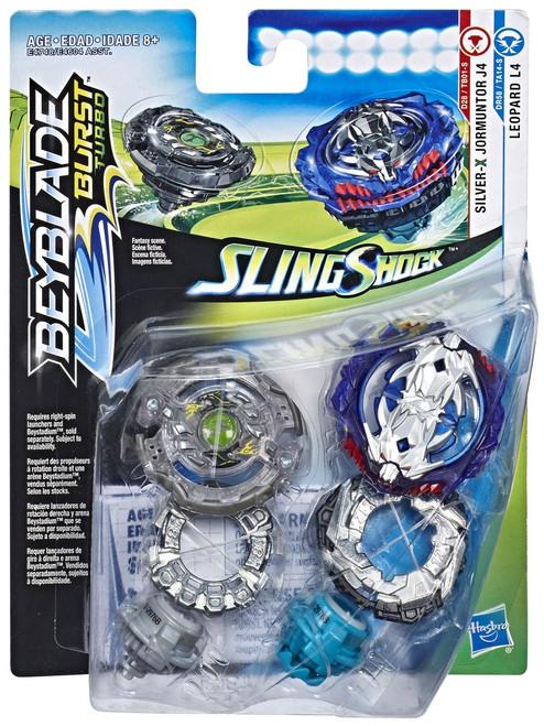 Beyblade Burst Slingshock Leopard L4 & Jormuntor J4 Dual Pack