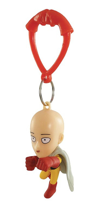 One Punch Man Backpack Hangers Saitama Keychain [Happy Punch Loose]