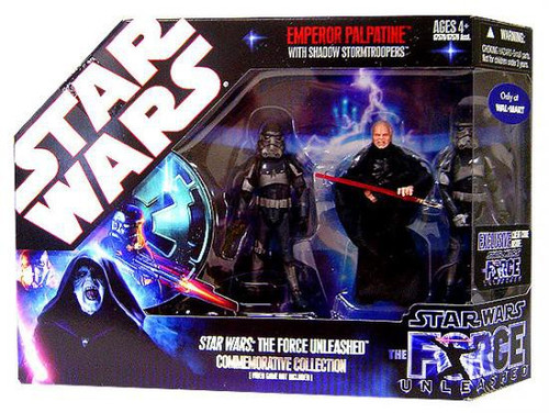 Star Wars Force Unleashed 2008 Emperor Palpatine Commemorative Collection Exclusive Action Figure