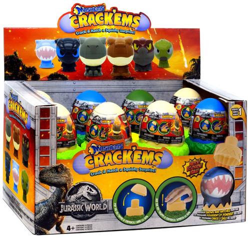Mash'Ems Crack'Ems Series 1 Jurassic World Mystery Box [15 Packs]