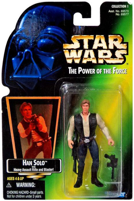 Star Wars A New Hope Power of the Force POTF2 Collection 1 Han Solo Action Figure