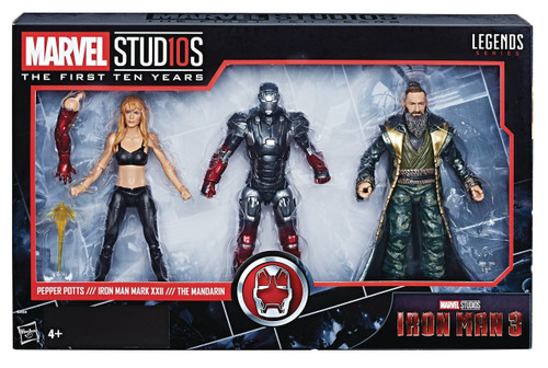 Iron Man 3 Marvel Studios: The First Ten Years Marvel Legends Pepper Potts, Iron Man Mark XXII & The Mandarin Action Figure 3-Pack