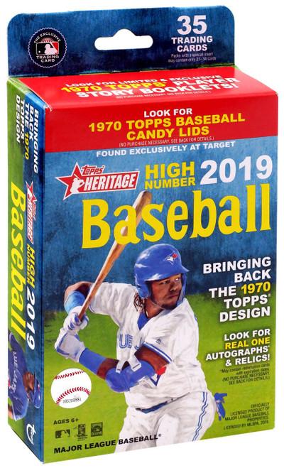MLB Topps 2019 Heritage High Number Baseball Trading Card HANGER Box [35 Cards]