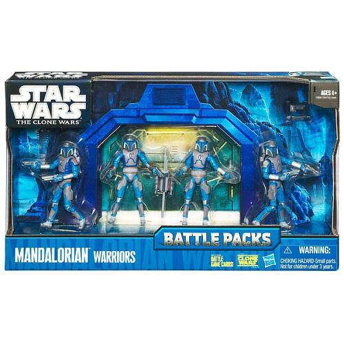 Star Wars The Clone Wars 2010 Battle Packs Mandalorian Warriors Action Figure 4-Pack