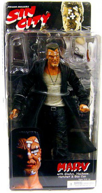 NECA Sin City Series 1 Marv Action Figure [Color Variant]