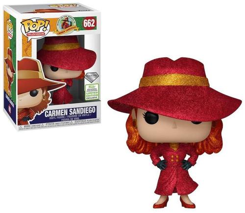 Funko Where in the World Is Carmen Sandiego? POP! TV Carmen Sandiego Exclusive Vinyl Figure #662 [Diamond Collection]