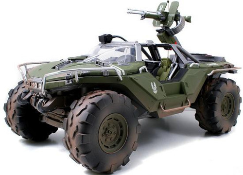 Halo 4 S-1 Series Warthog 14-Inch Diecast Set #96623 [Primer Green with Dirt, Combat Edition]