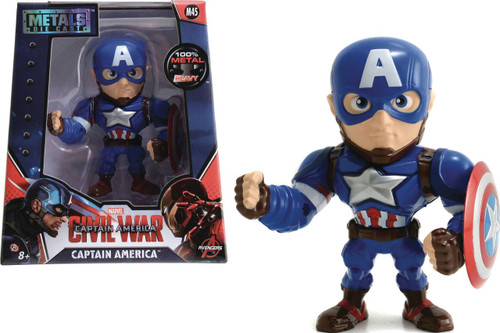 "Marvel Civil War Metals Captain America Action Figure [4""]"