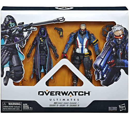 Overwatch Ultimates Shrike Ana & Soldier 76 Action Figure 2-Pack