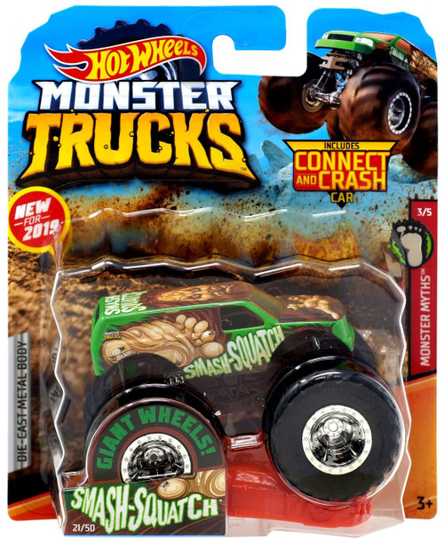 Hot Wheels Monster Trucks Monster Myths Smash-Squatch Diecast Car