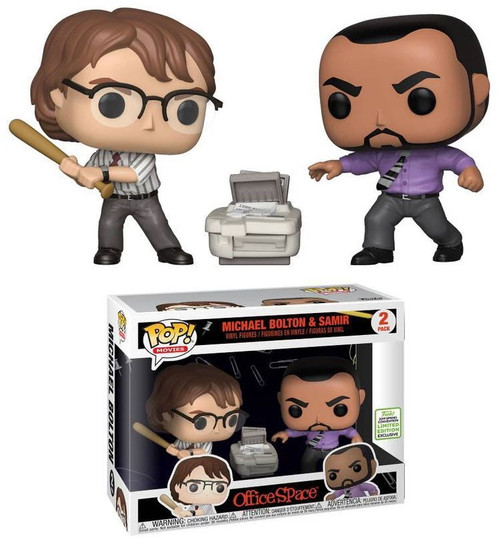 Funko Office Space POP! Movies Michael Bolton & Samir Exclusive Vinyl Figure 2-Pack