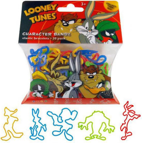 Character Bandz Looney Tunes Shaped Rubber Band Bracelets [20-Pack]