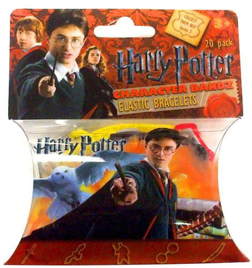 Character Bandz Harry Potter Shaped Rubber Band Bracelets [20-Pack]
