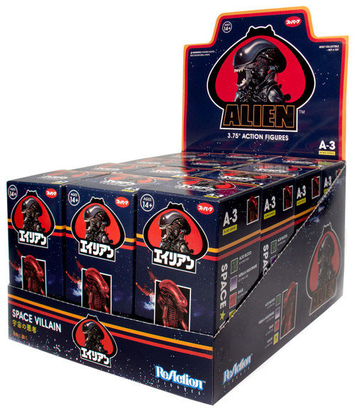 ReAction Alien Series 3 Xenomorph 3.75-Inch Mystery Box [12 Packs]