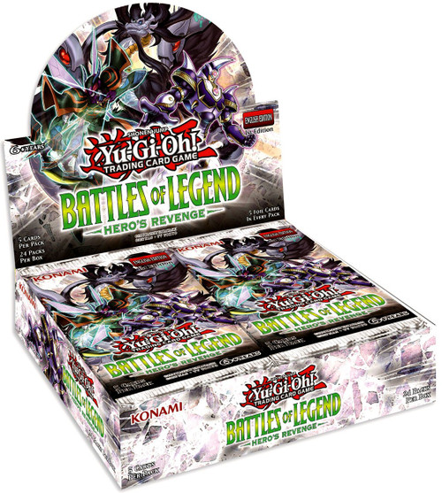 YuGiOh Trading Card Game Battles of Legend Hero's Revenge Booster Box [24 Packs]