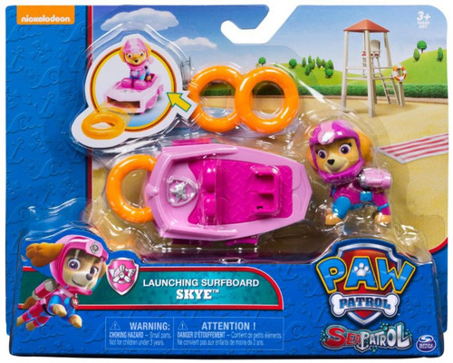 Paw Patrol Sea Patrol Launching Surfboard Skye Figure [Damaged Package]