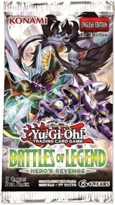 YuGiOh Trading Card Game Battles of Legend Hero's Revenge Booster Pack