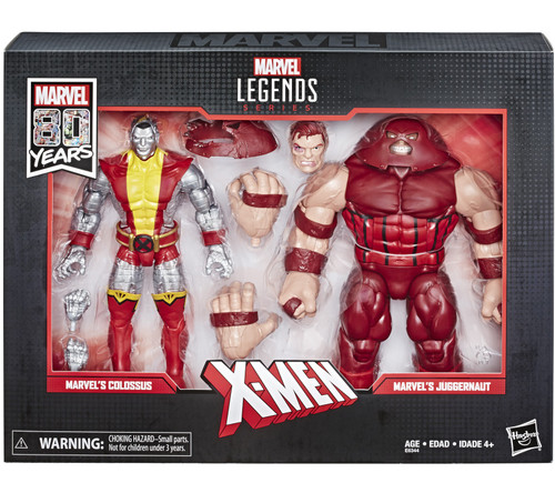 Marvel Legends 80th Anniversary Colossus & Juggernaut Action Figure 2-Pack [Movie]