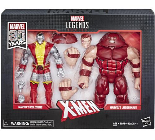 Marvel Legends 80th Anniversary Colossus & Juggernaut Action Figure 2-Pack [Movie]