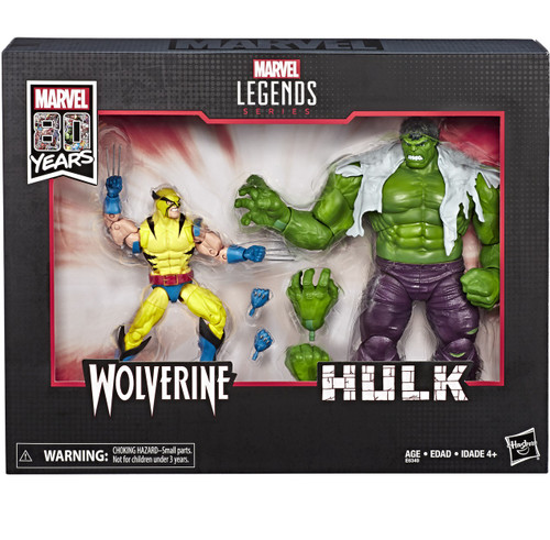 Marvel Legends 80th Anniversary Wolverine & Hulk Action Figure 2-Pack [Comic Version]