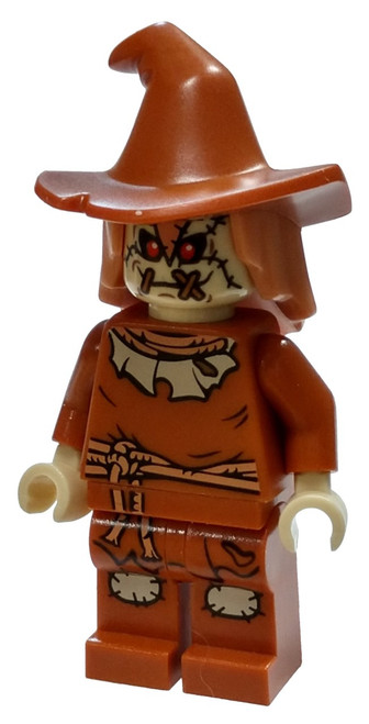 LEGO DC Universe Super Heroes Scarecrow Minifigure [Dark Orange Floppy Hat Loose]