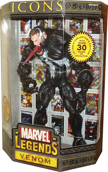 Icons Marvel Legends Venom Deluxe Action Figure [Exposed Face Variant]