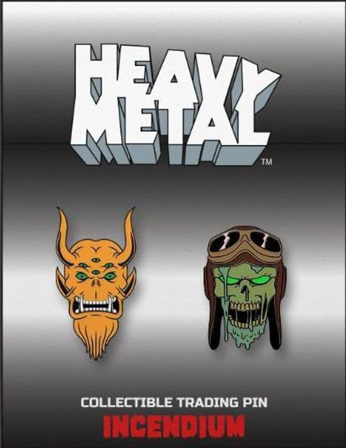 Heavy Metal Set 2 2-Inch Lapel Pin Set