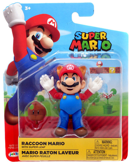 World of Nintendo Wave 16 Raccoon Mario Action Figure [Leaf]