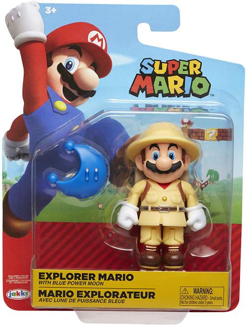 World of Nintendo Wave 17 Explorer Mario Action Figure [Blue Power Moon]
