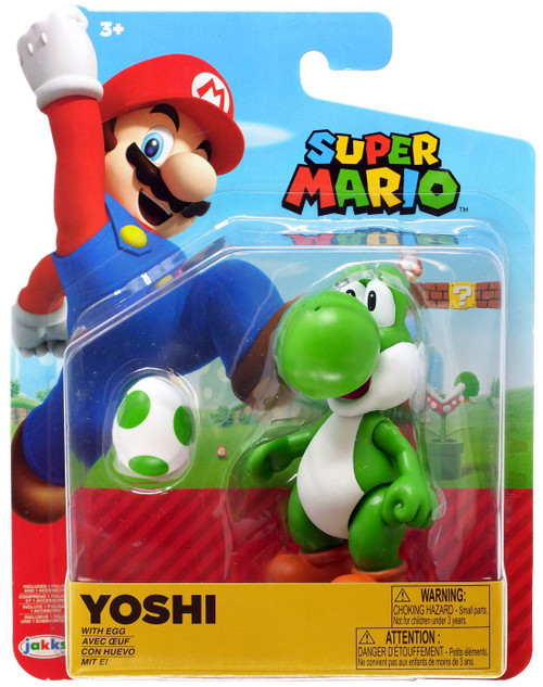 World of Nintendo Wave 17 Yoshi Action Figure [Green, with Egg]