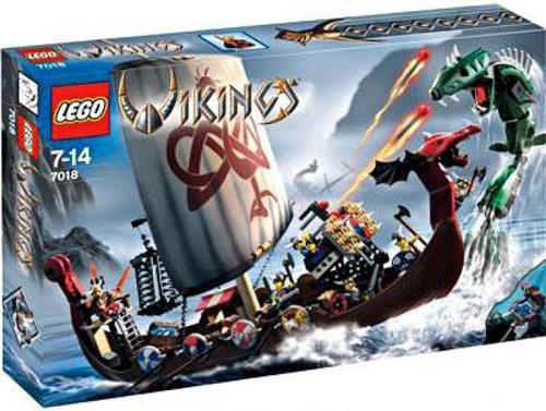 LEGO Vikings Viking Ship Challenges the Midgard Serpent Set #7018