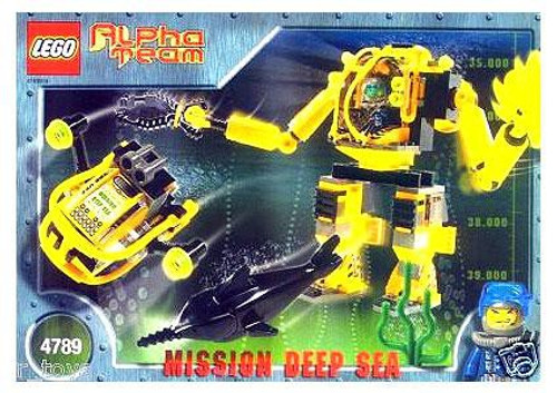 LEGO Alpha Team Mission Deep Sea Deep Sea Aquatic Mech Factory Set #4789