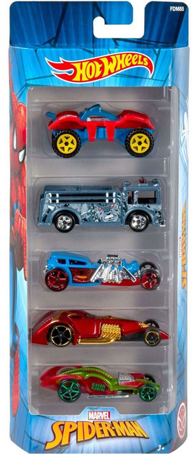 Hot Wheels Marvel Spider-Man Die-Cast Car 5-Pack