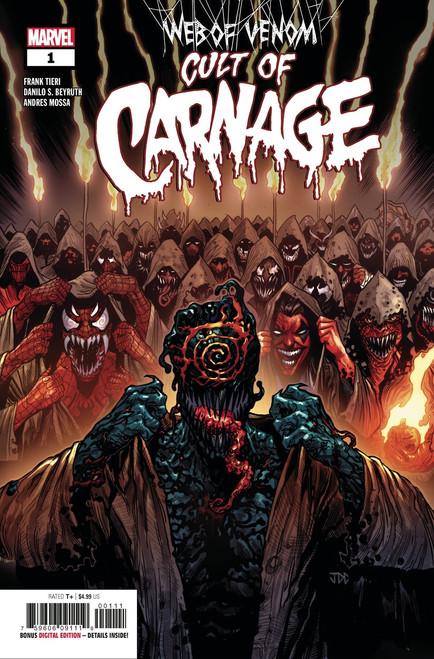 Marvel Comics Web of Venom #1 Cult of Carnage Comic Book