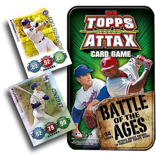 MLB Trading Card Game 2010 Attax Baseball Battle of the Ages Tin Set