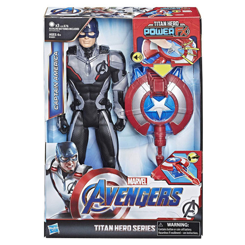 Marvel Avengers Endgame Titan Hero Series Power FX 2.0 Captain America Action Figure