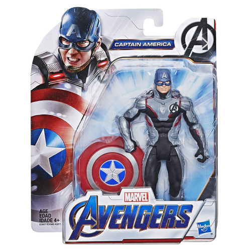 Marvel Avengers Endgame Team Suit Captain America Action Figure