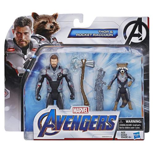 Marvel Avengers Endgame Team Pack Thor & Rocket Raccoon Action Figure 2-Pack