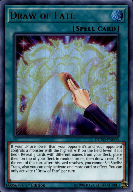 YuGiOh Duel Power Ultra Rare Draw of Fate DUPO-EN003